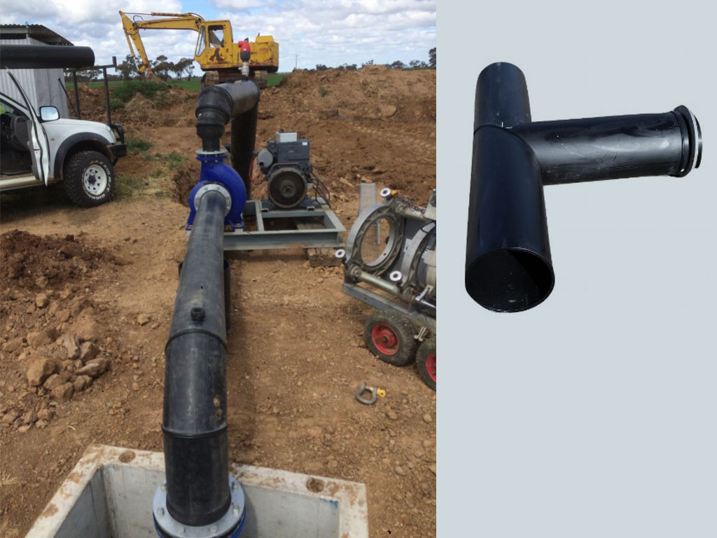 Poly tees bends and reducers - G&M Poly Irrigation